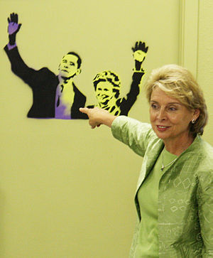 Christine Gregoire - Gregoire at a campaign stop in August 2008
