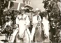 Governor Jack R. Gage and wife Buddy riding in the Frontier Days Parade in Cheyenne, Wyoming 1962.jpg