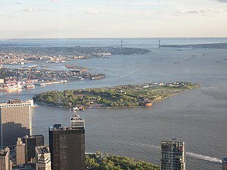 Governors Island - Governors Island viewed from One World Observatory