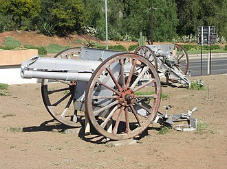 BLC 15-pounder gun - Open-air display of two surviving examples in Graaff-Reinet, South Africa