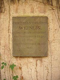 Grabtafel Christian Theodor Weinlig (Quelle: Wikimedia)