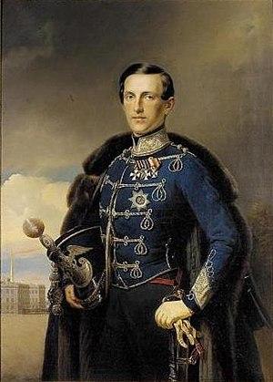 Princess Alexandra of Saxe-Altenburg - Portrait of Konstantin Nikolayevich, dated 1851