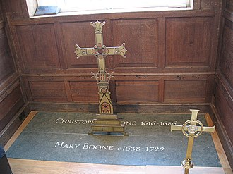 Boone's Chapel - Grave of Christopher and Mary Boone, Boone's Chapel, London