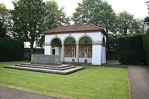 Spalding War Memorial - The pavilion and Stone of Remembrance