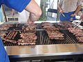 Greek American souvlaki grilling at 2011 Greek Festival, Piscataway, New Jersey.jpg