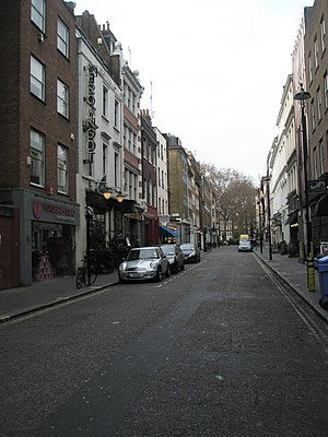 Soho - Image: Greek Street geograph.org.uk 1104098