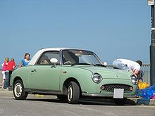 Automotorétro Lomme 2018 220px-Green-Nissan-Figaro-front