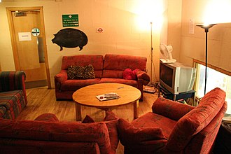 Green room - The green room at the Traverse Theatre, Edinburgh