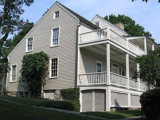 National Register of Historic Places listings in Greenwich, Connecticut - Image: Greenwich CT Bush Holley House Side 09092007