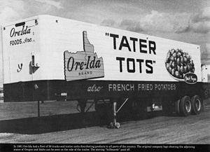 Ore-Ida - Image: Grigg Tater Tots Truck
