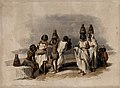 Group of Nubian women and children resting by the Nile at Ko Wellcome V0049323.jpg