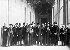 Group of Vatican and Italian government notables posing at the Lateran Palace before the signing of the treaty.jpg