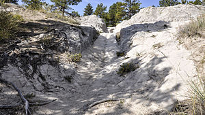 Oregon Trail Ruts (Guernsey, Wyoming) - Typical segment of the ruts