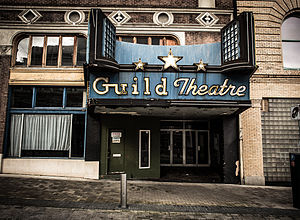 Guild Theatre (Portland, Oregon) - The theater's main entrance in 2013