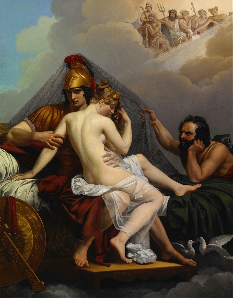 Hephaestus catching Aphrodite and Ares in their affair; circo del herrero imagery for the poem