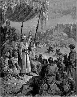 Torneio entre árabes e cruzados durante a Terceira Cruzada. Gravura de Gustave Doré (1832-1883).