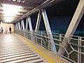 HK 西灣河 Sai Wan Ho night 興東邨 Hing Tung Estate Shopping Centre iron Shing On Street footbridge July 2019 SSG 02.jpg