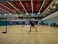 HK SWCC 上環市政大廈 12th Floor 上環體育館 Sheung Wan Sports Centre interior Badminton Tennis Courts visitors Dec-2015 DSC.JPG