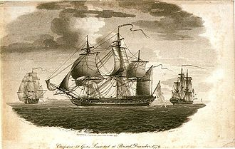 Impressment in Nova Scotia - Press gang from HMS Cleopatra started Halifax Riot (1805). Image by Nicholas Pocock