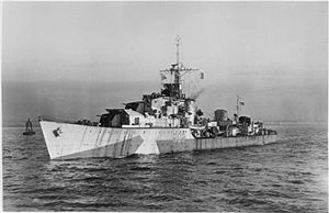 HMS Zest (R02) - Image: HMS Zest 1944 IWM FL 21914