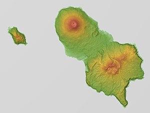 Hachijō-jima - Relief map