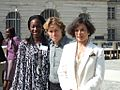 Hafsat Abiola, William Dafoe & Bianca Jagger in Berlin Sept 2006.jpg