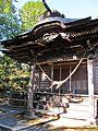 Haiden of Sakamine-jinja shrine in Haramachi ward 3.JPG