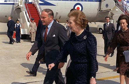Haig as Secretary of State with British Prime Minister Margaret Thatcher in 1982 Haig and Thatcher DF-SC-83-06152.jpg