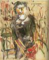 HasegawaToshiyuki-1937-Woman at Café Noa Noa.png