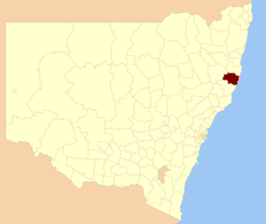 Port Macquarie-Hastings Council - Location in New South Wales