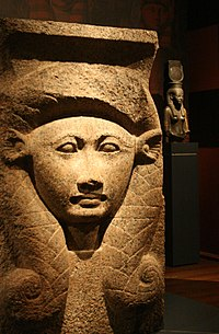 Hathor capital on display at the Nicholson Museum.jpg