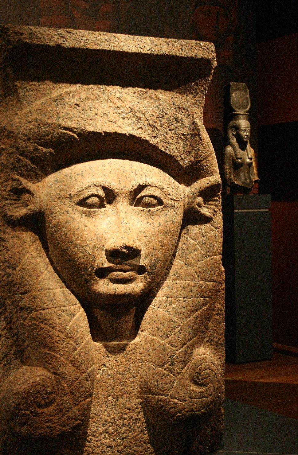 Hathor capital on display at the Nicholson Museum