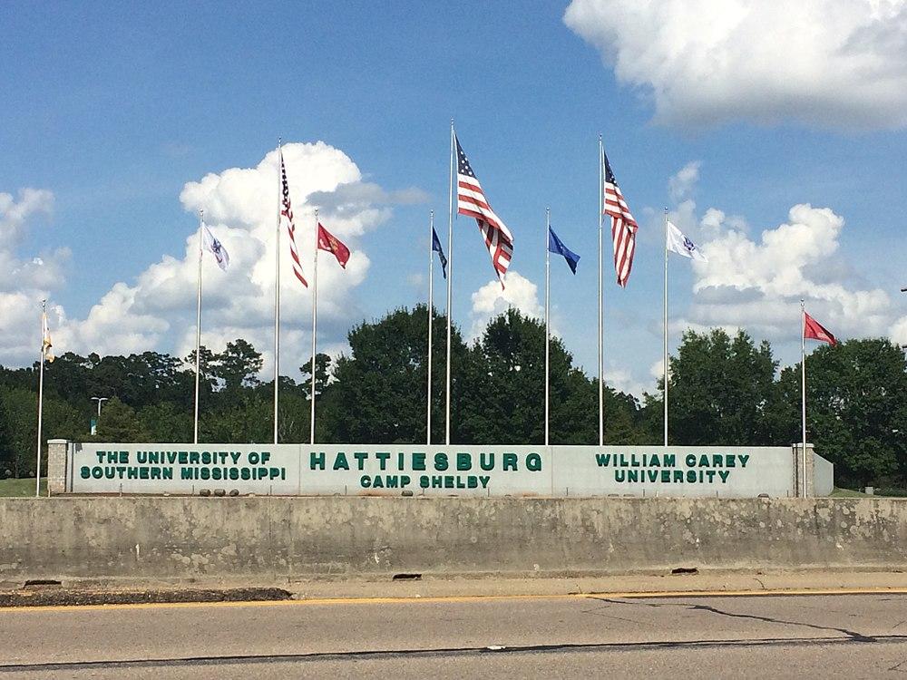 The population density of Hattiesburg in Mississippi is 318.6 people per square kilometer (825.12 / sq mi)