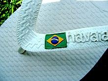 ed1b55a9c909 A pair of white Havaianas Brazil