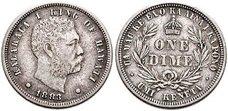 Kalākaua coinage 1883 Kingdom of Hawaiis set of silver coins