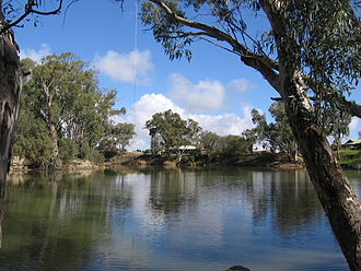 Murrumbidgee River - Swimming hole on the Murrumbidgee at Hay, New South Wales