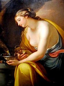 Hebe Giving Drink to the Eagle of Jupiter - Gavin Hamilton (1767)