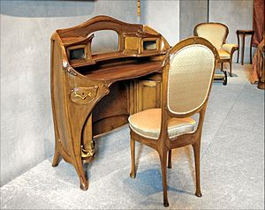 Art Nouveau furniture - Desk and chair by Hector Guimard, 1909–12