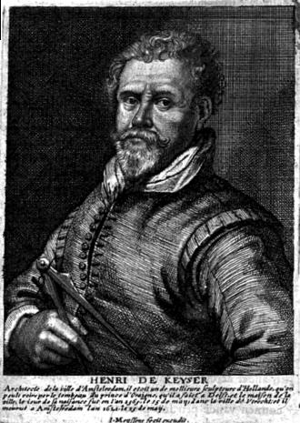 Hendrick de Keyser - Engraving of Hendrick de Keyser from Het Gulden Cabinet