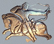 Hephthalite horseman on British Museum bowl 460-479 CE.jpg