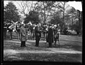 Herbert Hoover and marching band. White House, Washington, D.C. LCCN2016889751.jpg