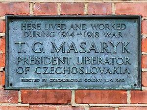 File:T  G  Masaryk - 21 Platts Lane Hampstead NW3 jpg