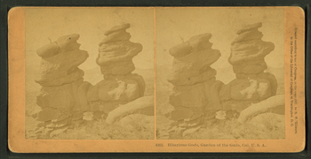 Hilarious gods, Garden of the Gods, Col., U.S.A, from Robert N. Dennis collection of stereoscopic views.png