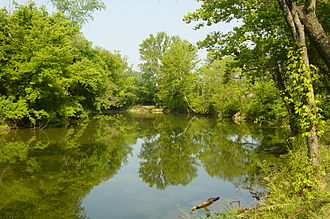 Hocking River - The Hocking River near Logan