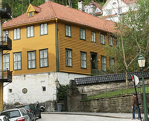 Bergen Cathedral School - The school building of Bergen Cathedral School, then known as Bergen latinskole, until 1840.