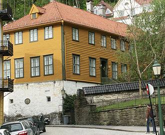 Bergen Cathedral School - The school building of Bergen Cathedral School, then known as Bergen latinskole, until 1840.