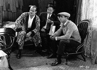 Charles Schoenbaum - Jack Holt, Wallace Worsley, and Charles Schoenbaum on the set of Nobody's Money (1923)