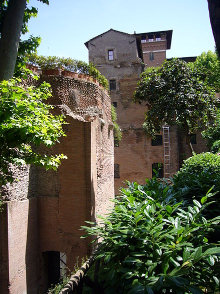 Ruins of the pavilion at Piazza Sallustio Horti sallustiani - aula e edificio a destra - 1120916.JPG