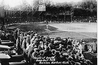 House of David (commune) - Stadium for the House of David traveling baseball team from Benton Harbor, Michigan. Photo taken in 1925.