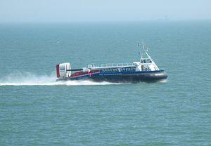 Hovertravel Hovercraft at sea.JPG